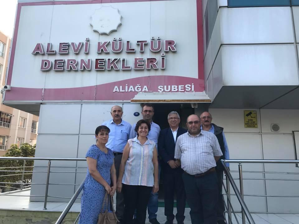 Alevi Kültür Dernekleri Aliağa Şube Başkanı Sayın Celal SÜSLÜ'yü ve yönetimini ziyaretimiz